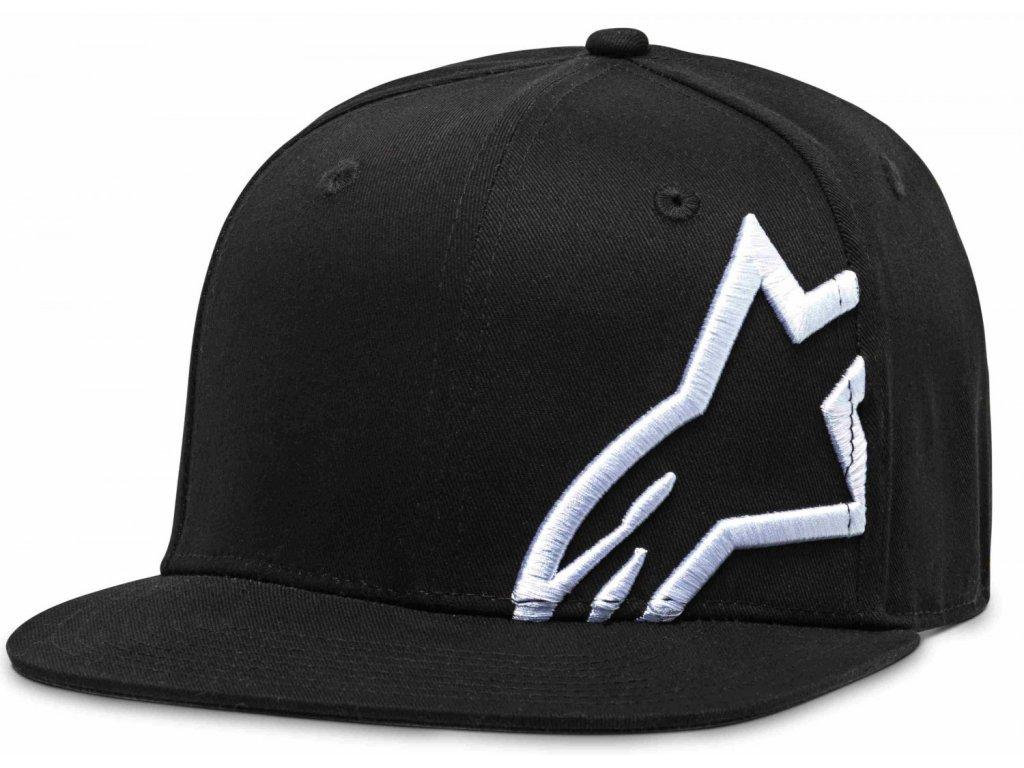 Pánská černo-bílá kšiltovka CORP SNAP HAT Alpinestars 1139-81505 1020