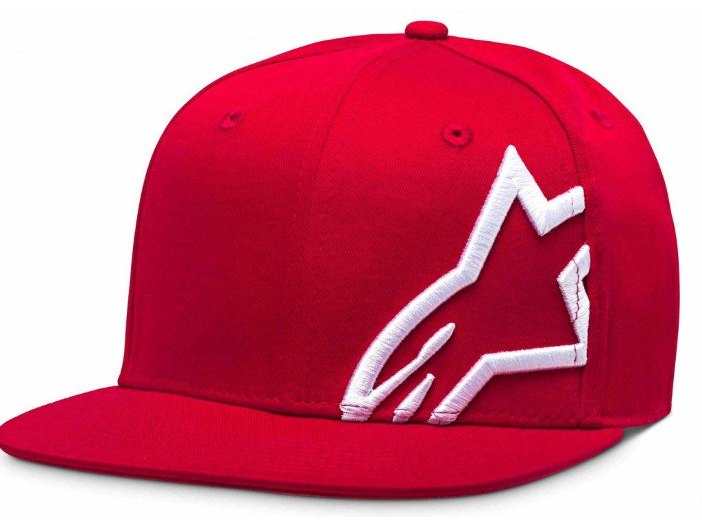 Pánská červeno-bílá kšiltovka CORP SNAP HAT Alpinestars 1139-81505 3020