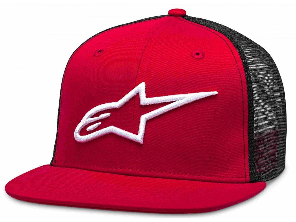 Pánská červeno-černá kšiltovka CORP TRUCKER Alpinestars 1025-81003 3010