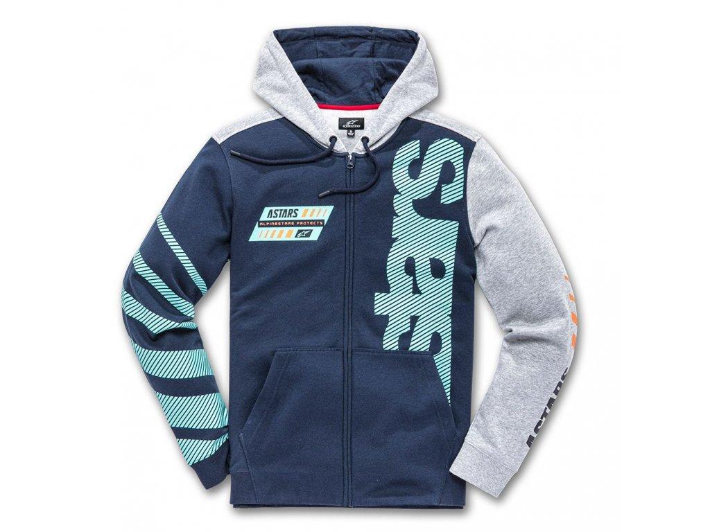 Pánská modrá mikina FAN CLUB FLEECE Alpinestars 1139-53200 7026