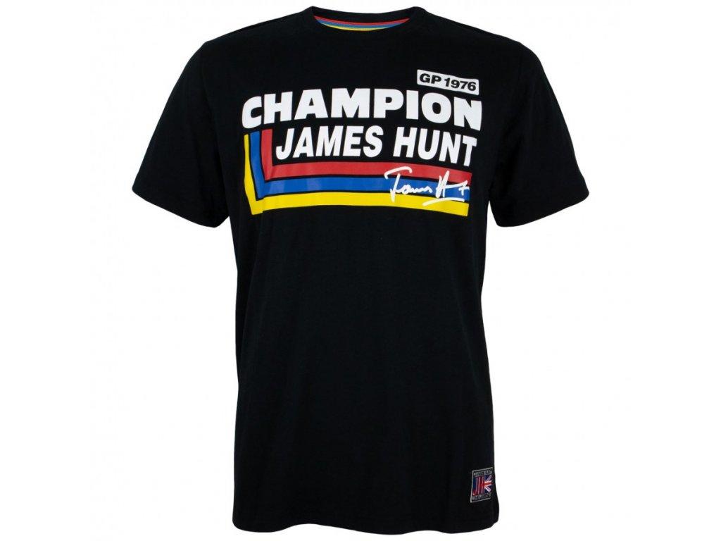 Pánské černé tričko Champion James Hunt