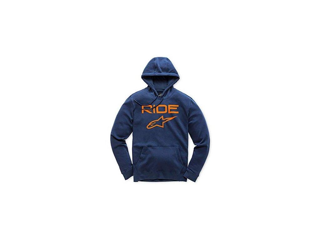 Pánská modro-oranžová mikina RIDE 2.0 FLEECE Alpinestars 1119-51000 7032