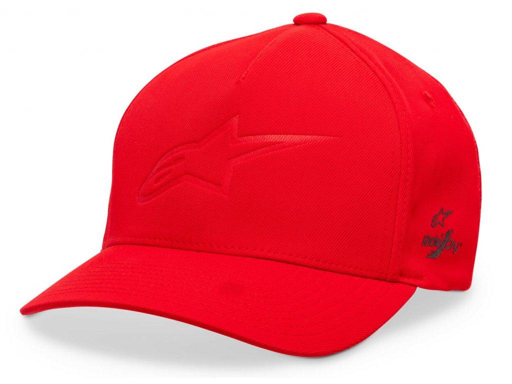 Pánská červená kšiltovka AGELESS DEBOSS TECH HAT Alpinestars 1019-81106 30-M