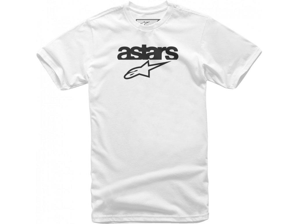 Pánské bílé tričko HERITAGE BLAZE TEE Alpinestars krátké 1038-72002 20