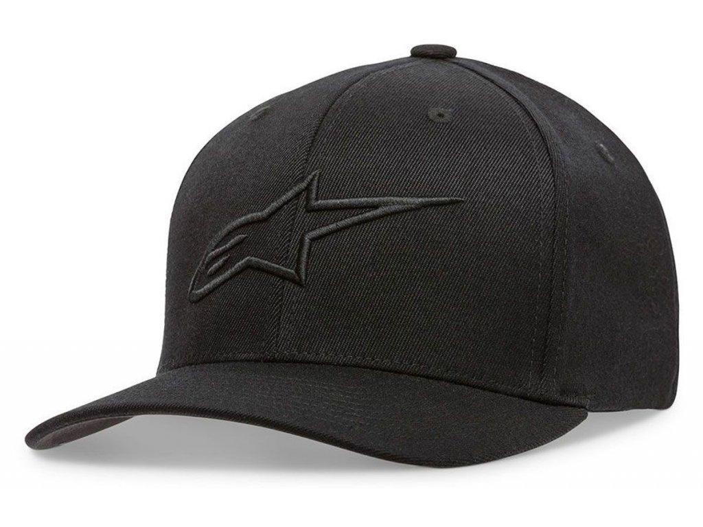 Pánská černo-černá kšiltovka AGELESS CURVE HAT Alpinestars 1017-81010 1010-M