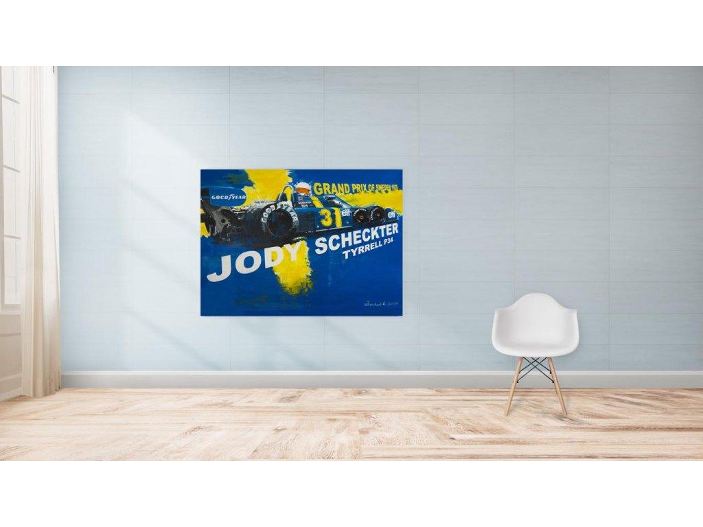 Hlinikovy obraz Jody Scheckter Tyrrell P34 1