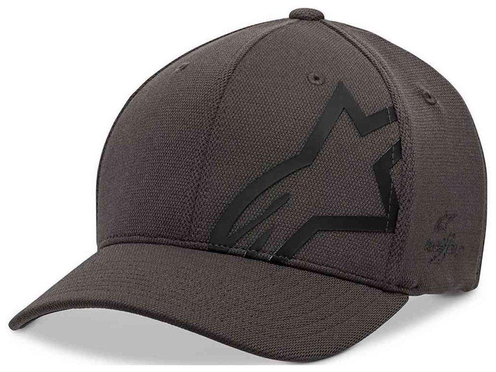 Pánská šedo - černá kšiltovka CORP SHIFT SONIC TECH HAT Alpinestars 1019-81110 1810-M