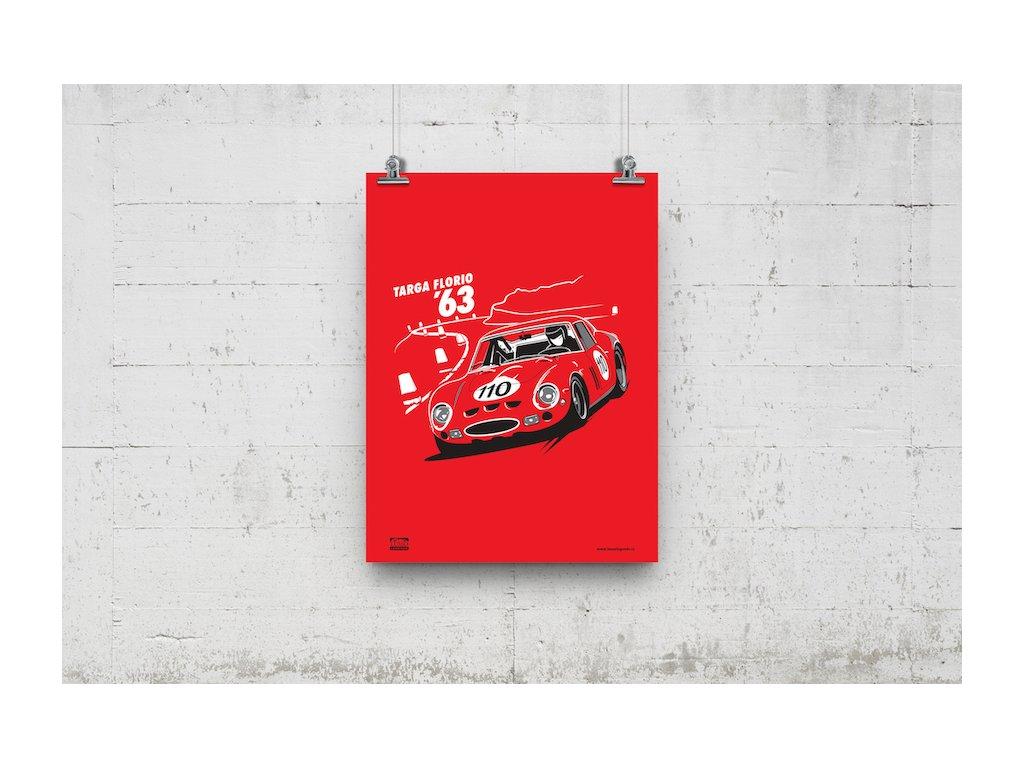 Poster Lusso Legends Ferrari 250 GTO Targa Florio 1963