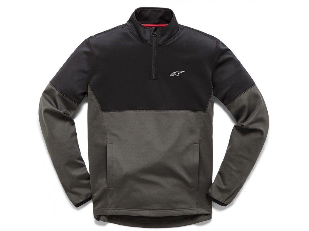 Pánská šedo-černá bunda MISSION MIDLAYER Alpinestars 1210-42010 1011