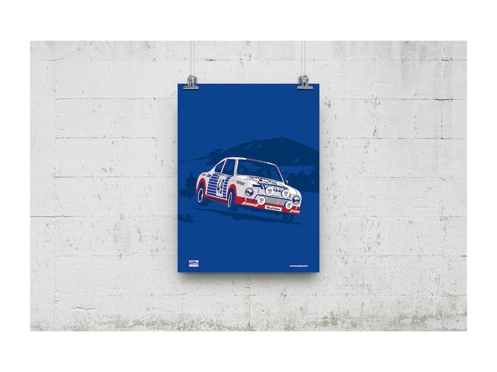 Poster Lusso Legends Skoda 130 RS