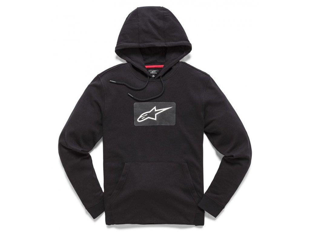 Pánská černá mikina STAT PULLOVER HOODIE Alpinestars 1210-51100 10
