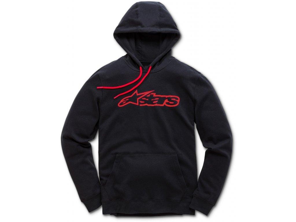 Pánská černo-červená mikina BLAZE PULLOVER HOODIE 1037-53113 1030