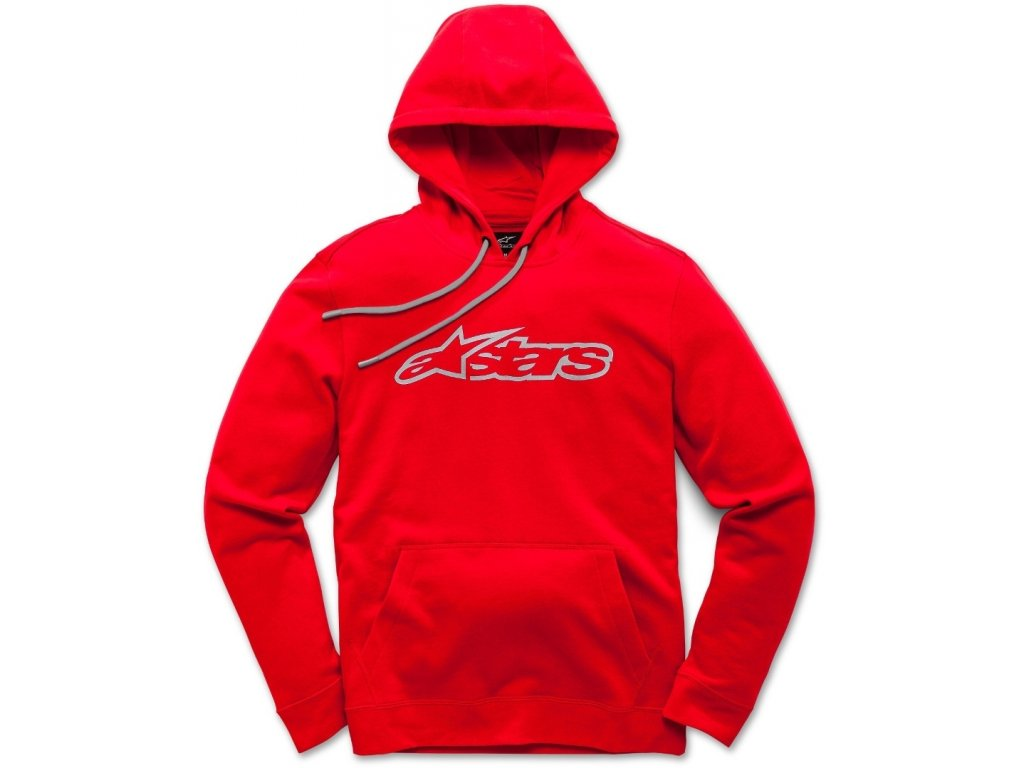 Pánská červená mikina BLAZE PULLOVER HOODIE 1037-53113 3011