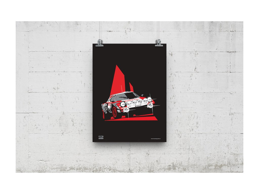 Poster Lusso Legends Lanci Stratos Rally San Remo