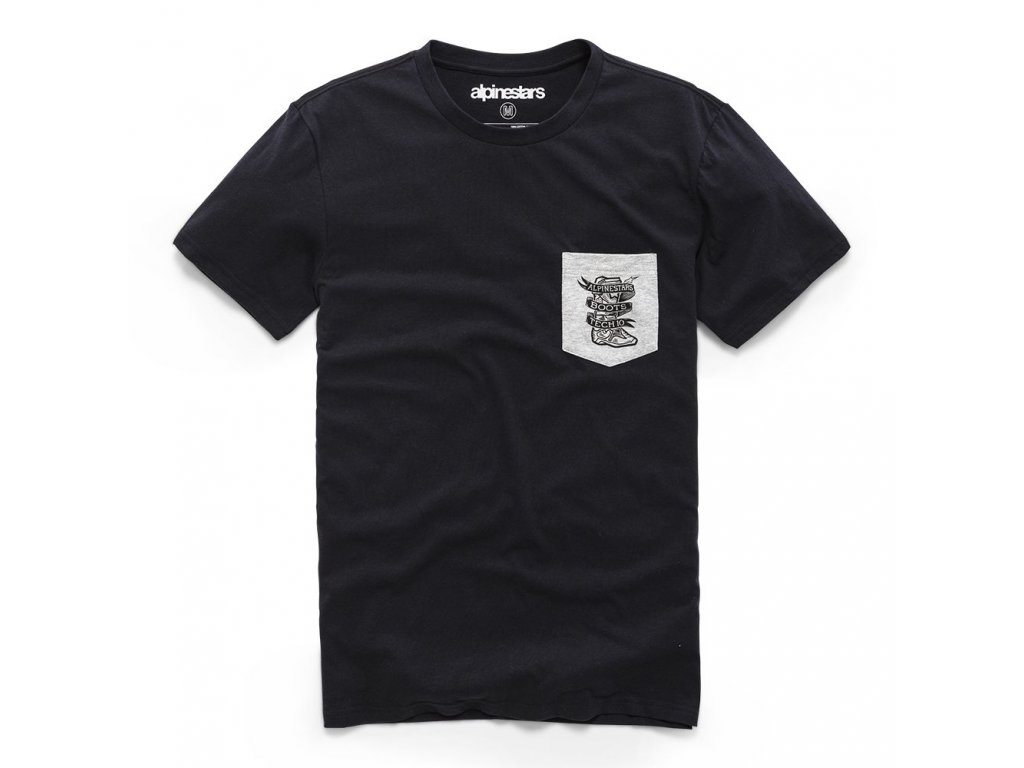 Pánské černé prémiové tričko SERVICE PREMIUM POCKET TEE Alpinestars krátké 1210-73000 10