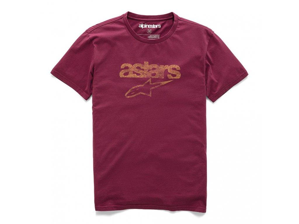 Pánské červené prémiové tričko HERITAGE BLAZE PREMIUM TEE Alpinestars krátké 1210-73002 9052