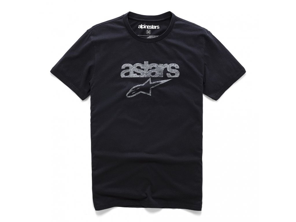 Pánské černé prémiové tričko HERITAGE BLAZE PREMIUM TEE Alpinestars krátké 1210-73002 109