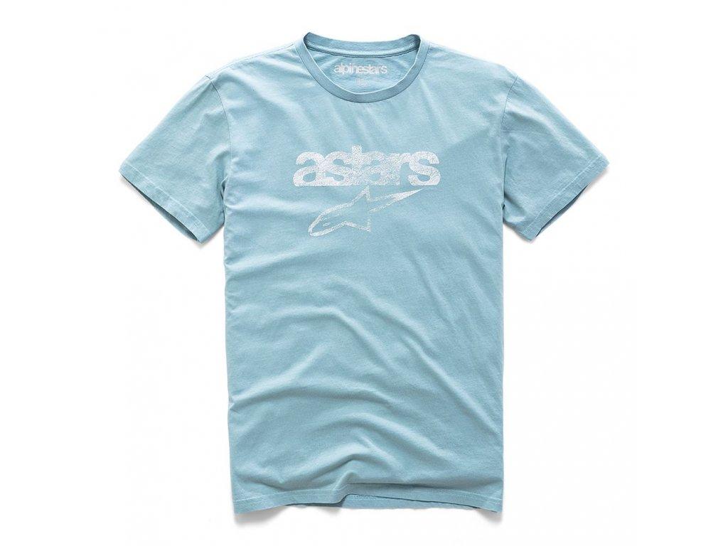 Pánské modré prémiové tričko HERITAGE BLAZE PREMIUM TEE Alpinestars krátké 1210-73002 9076
