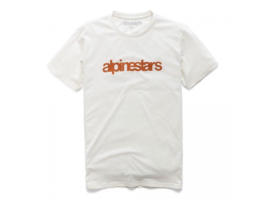 Pánské bílé prémiové tričko HERITAGE WORD PREMIUM TEE Alpinestars krátké 1210-73006 224