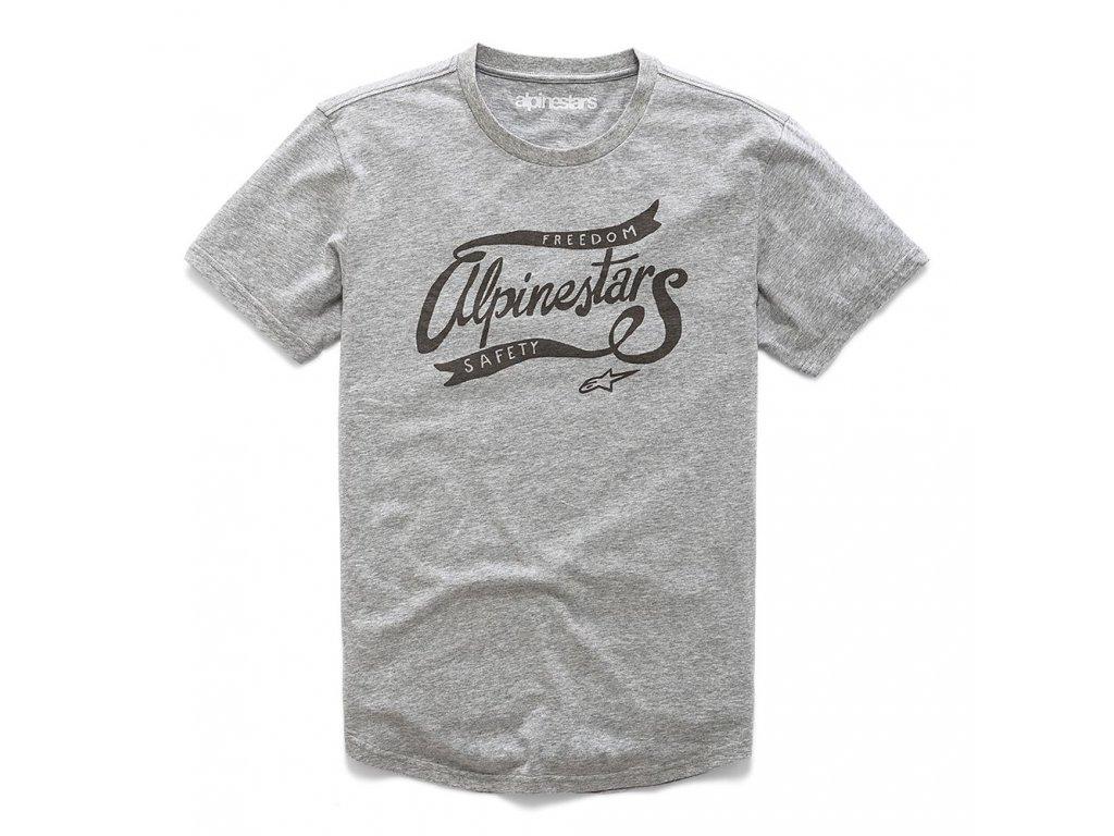 Pánské šedé prémiové tričko LOOSE PREMIUM TEE Alpinestars krátké 1210-73008 1026