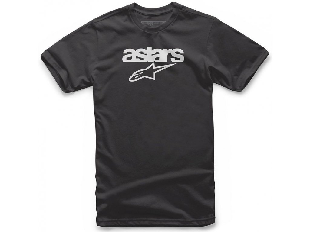 Pánské černé tričko HERITAGE BLAZE TEE Alpinestars krátké 1038-72002 10