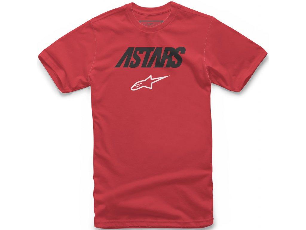 Pánské červené tričko ANGLE COMBO TEE Alpinestars krátké 1119-72000 30