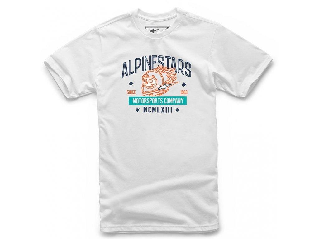 Pánské bílé tričko DISORDERLY TEE Alpinestars krátké 1210-72024 20