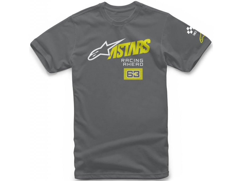 Pánské šedé tričko TITLE TEE Alpinestars krátké 1210-72000 18