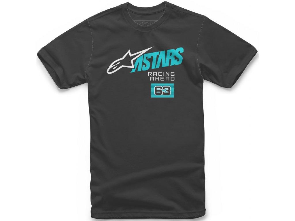Pánské černé tričko TITLE TEE Alpinestars krátké 1210-72000 10