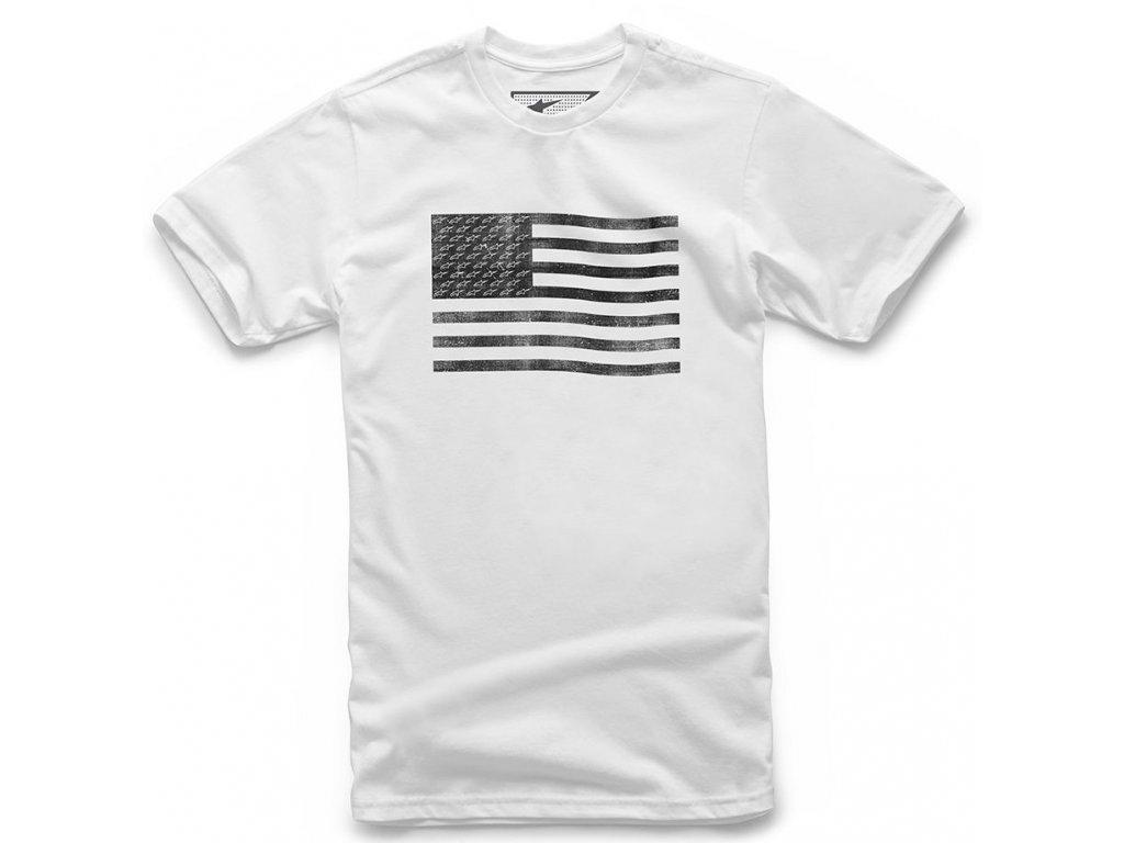 Pánské bílé tričko FLAG TEE Alpinestars krátké 1210-72026 20
