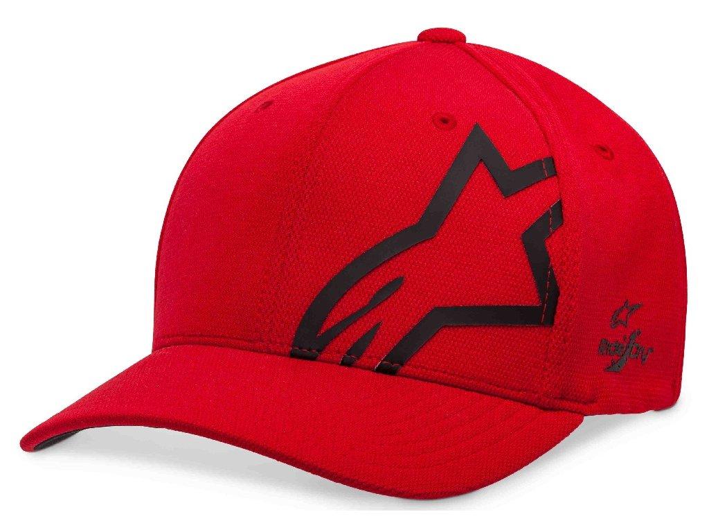 Pánská červená kšiltovka CORP SHIFT SONIC TECH HAT Alpinestars 1019-81110 3010-M