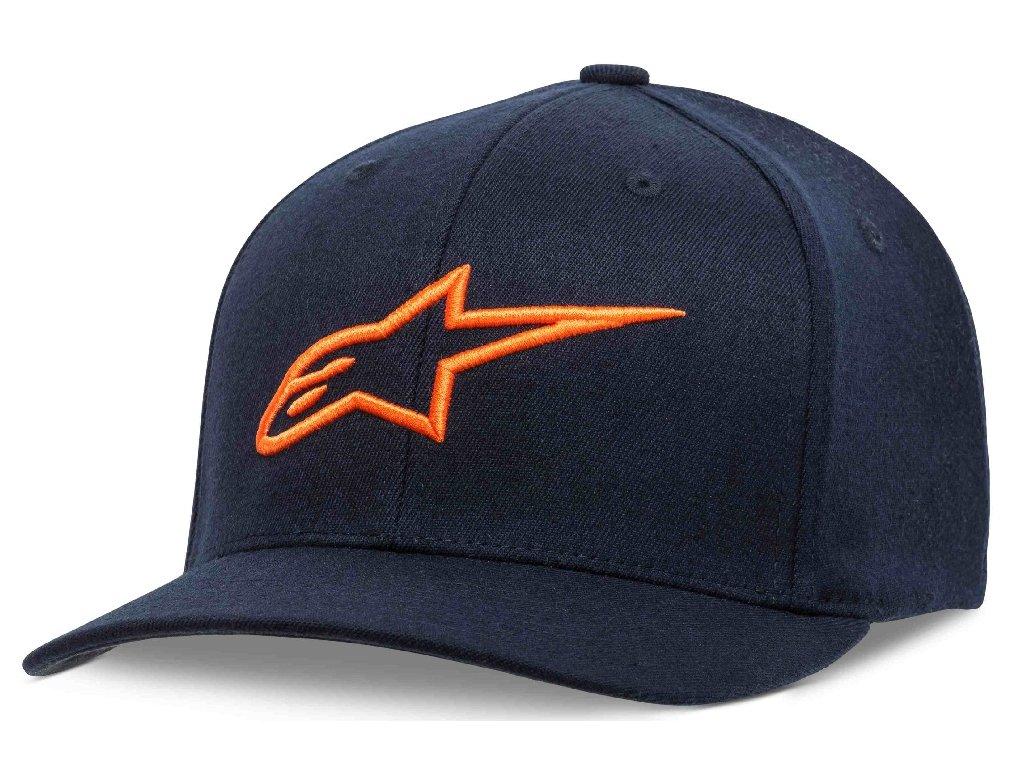 Pánská modro-oranžová kšiltovka AGELESS CURVE HAT Alpinestars 1017-81010 7032-M
