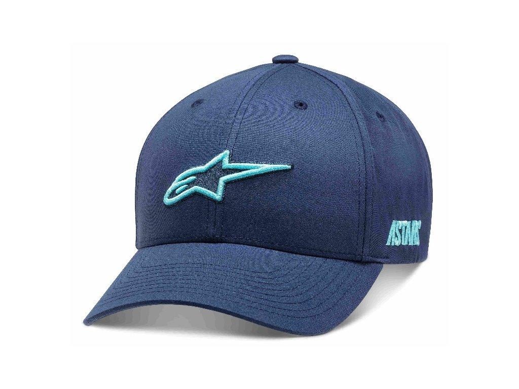 Pánská modrá kšiltovka AGELESS POPPER HAT Alpinestars 1210-81030 70