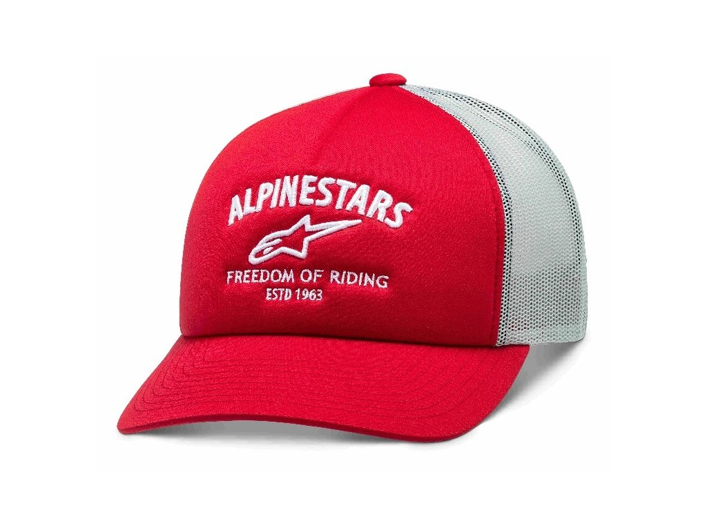 Pánská červená kšiltovka LOCKDOWN HAT Alpinestars 1210-81090 30
