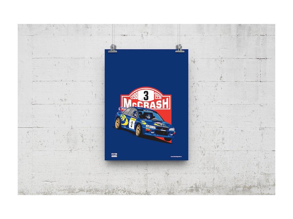 Poster Lusso Legends Colin McRae Subaru 1998