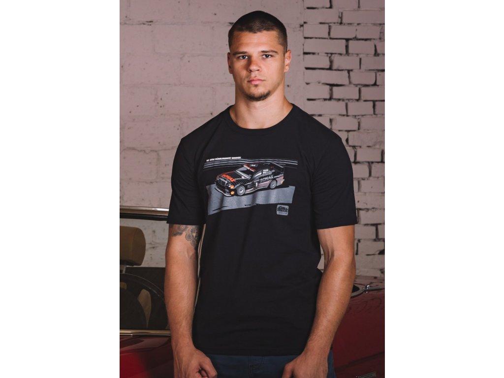 Pánské černé tričko KLAUS LUDWIG MERCEDES-BENZ DTM Lusso Legends