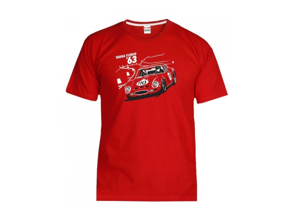 Pánské červené tričko FERRARI 250 GTO Lusso Legends