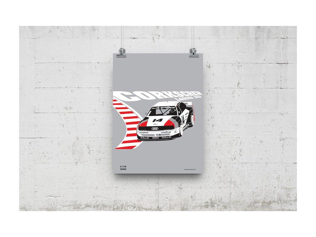 Poster Lusso Legends Audi Laguna Seca