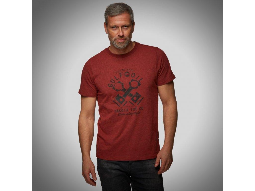 Pánské červené tričko Piston GULF