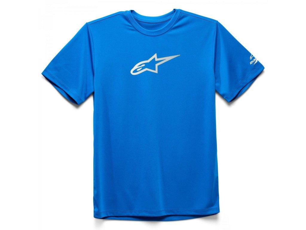 Pánské modré prémiové tričko TECH AGELESS PREMIUM TEE Alpinestars krátké 1139-73000 760
