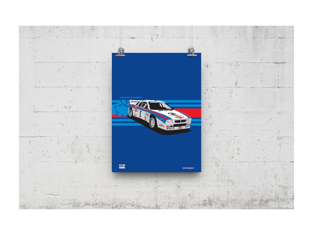 Poster Lusso Legends Lancia 037 Group B Champion 1983