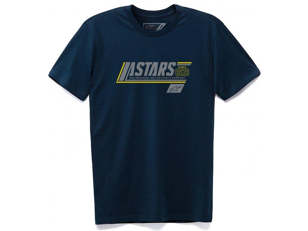 Pánské modré tričko CYPHER TEE Alpinestars krátké 1230-72115 70