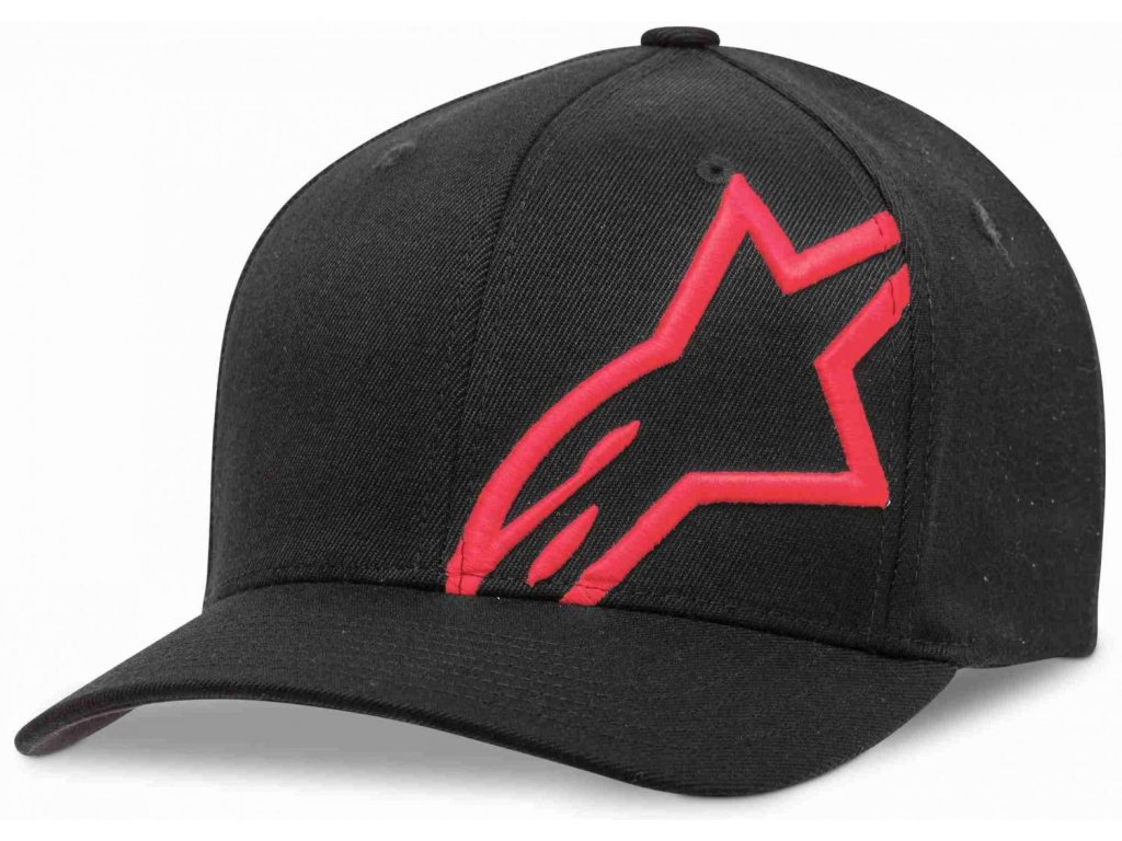 Pánská černo-červená kšiltovka CORP SHIFT 2 FLEXFIT Alpinestars 1032-81008 1030-XL