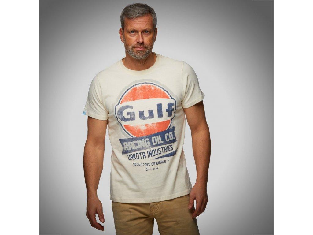 Pánské šedé tričko Oil Racing GULF