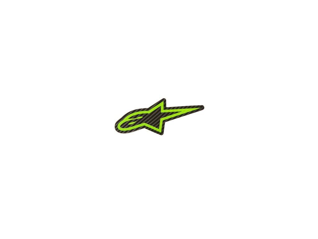 Samolepka 9 cm zelená CARBON Alpinestars 1033-97074 1060