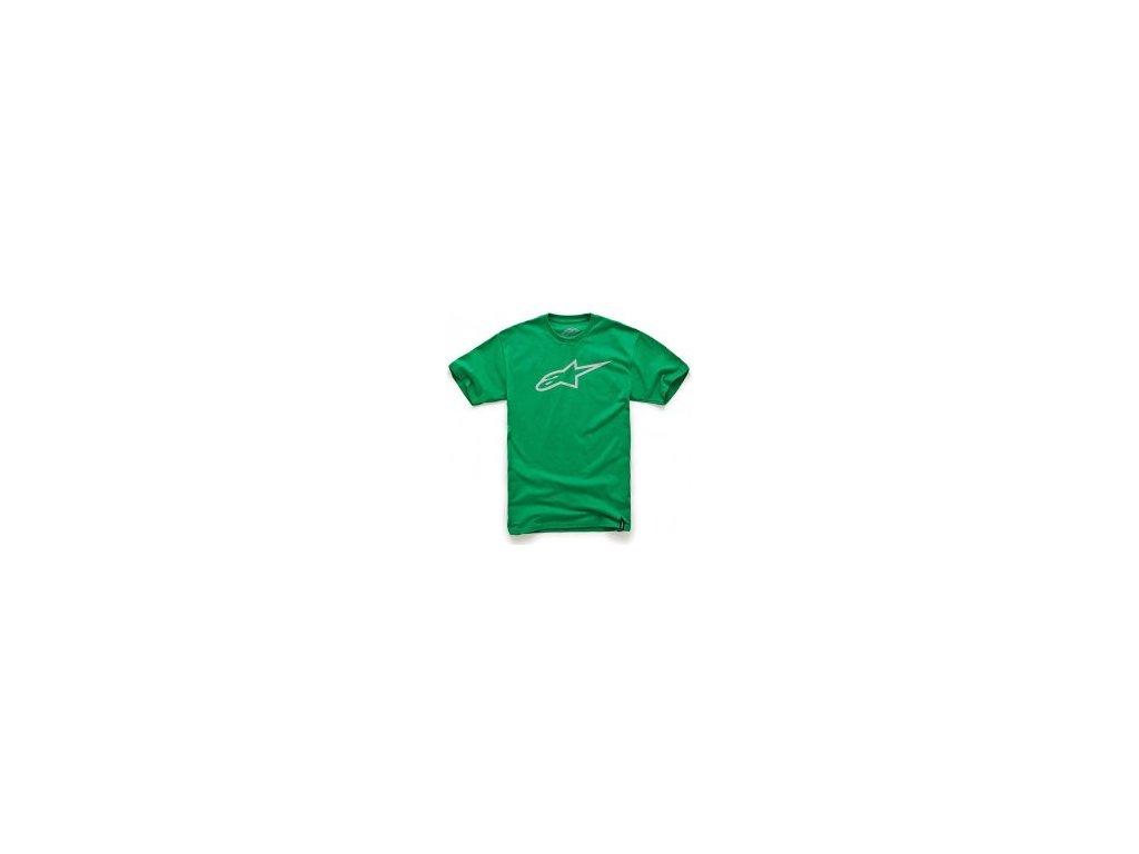 Pánské zeleno-šedé tričko AGELESS CLASSIC TEE Alpinestars krátké 1032-72030 6011