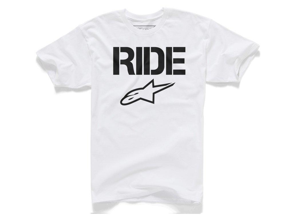 Pánské bílé tričko RIDE SOLID Alpinestars krátké 1025-72007 20