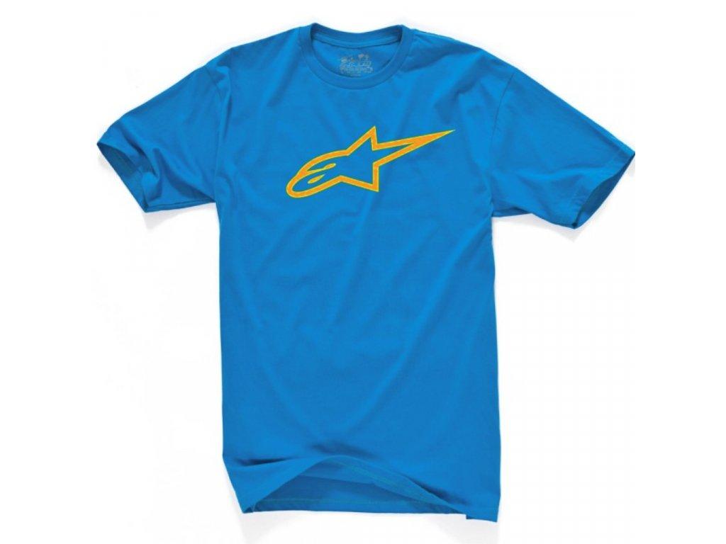 Pánské modro-oranžové tričko AGELESS CLASSIC TEE Alpinestars krátké 1032-72030 7640
