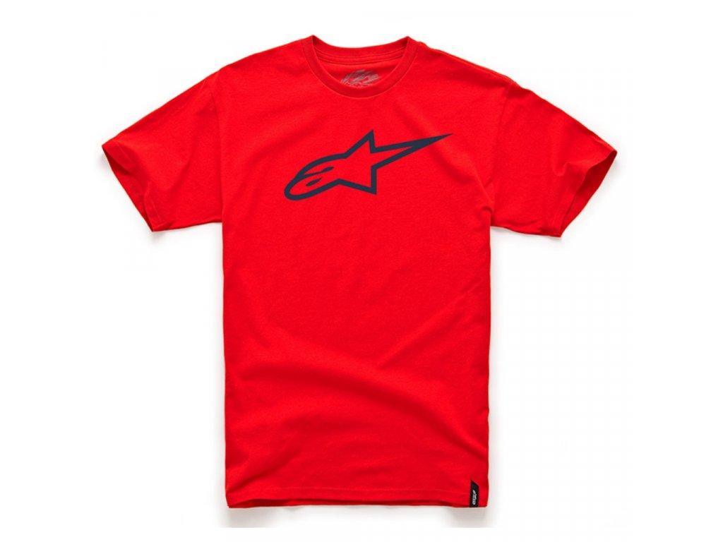Pánské červeno-černé tričko AGELESS CLASSIC TEE Alpinestars krátké 1032-72030 3010