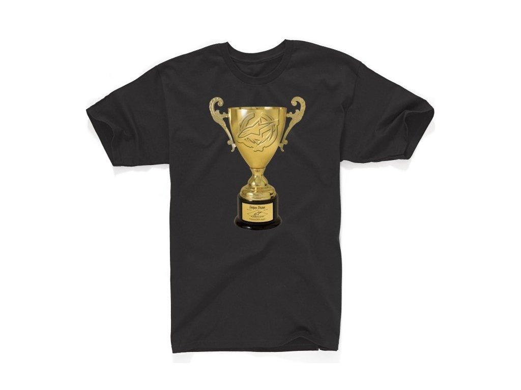 Pánské černé tričko TROPHY TEE Alpinestars krátké 1034-72013 10